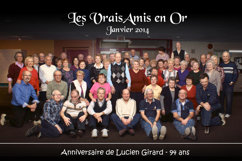 """Photo ligue """"Vrais Amis en Or"""" - Anniversaire M. Girard"""