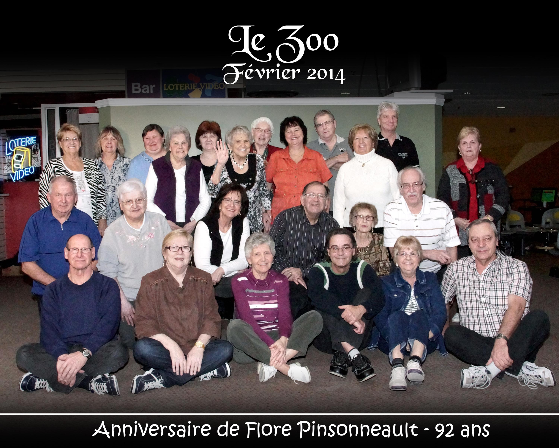 """Photo ligue """"Le Zoo"""" - Anniversaire Flore Pinsonneault"""